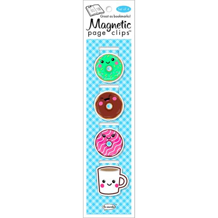 Magnetic Page Clip Bookmarks 4/Pkg-Donuts