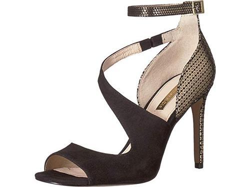 Louise Et Cie Womens Kalimac Leather Peep Toe Ankle Strap Classic Pumps