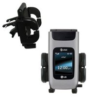 Gomadic Air Vent Clip Based Cradle Holder Car / Auto Mount suitable for the LG A340 - Lifetime Warranty