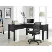 Ameriwood Home Princeton L-Shaped Desk with Wire Management, Espresso