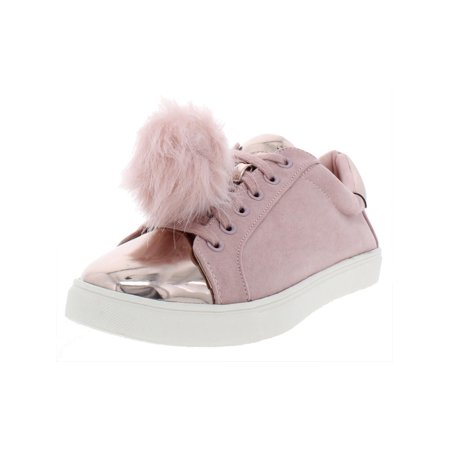 Zegna Leather (Material Girl Womens Zelda Faux Leather Fashion Sneakers Pink 8 Medium (B,M) )