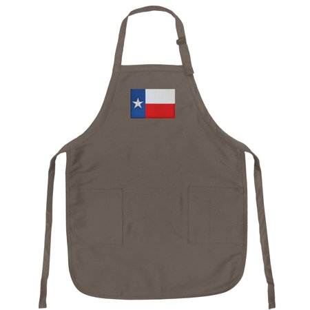 Texas Apron Broad Bay Texas Flag APRONS w/ Pockets & Adjustable Neck - Chefs (Chef Style Apron)