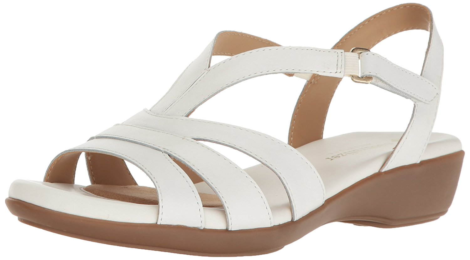 Naturalizer Womens Neina Leather Open Toe Casual Ankle Strap Sandals by Naturalizer