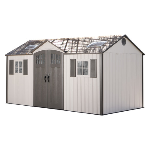 Lifetime 14 ft. 10 in. W x 8 ft. D Plastic Storage Shed