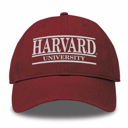 Harvard Crimson Adult NCAA Team Color Bar Logo Adjustable Hat  - (Ncaa Team Logos)