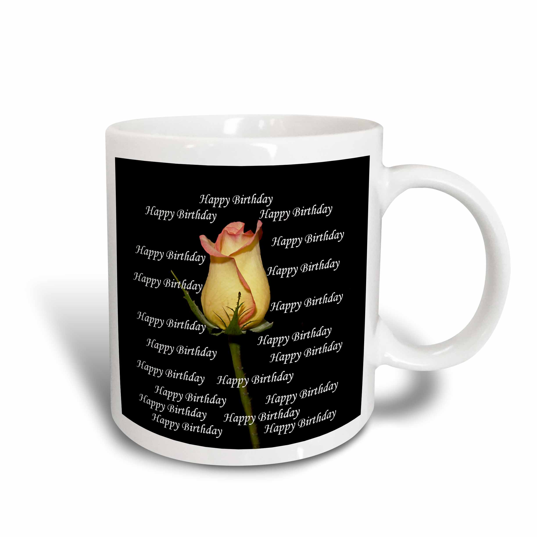 3dRose Happy Birthday, Ceramic Mug, 11-ounce