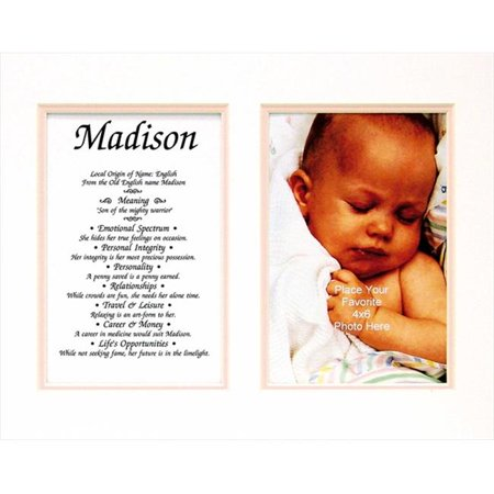 Townsend FN02Leona Personalized Matted Frame With The Name & Its Meaning - Leona