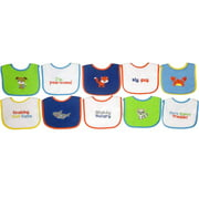 Knit Terry 10-Pack Bibs With PEVA, Boy