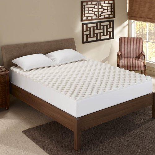 Sleep Innovations Inc Convoluted 1 5 Memory Foam Mattress Topper