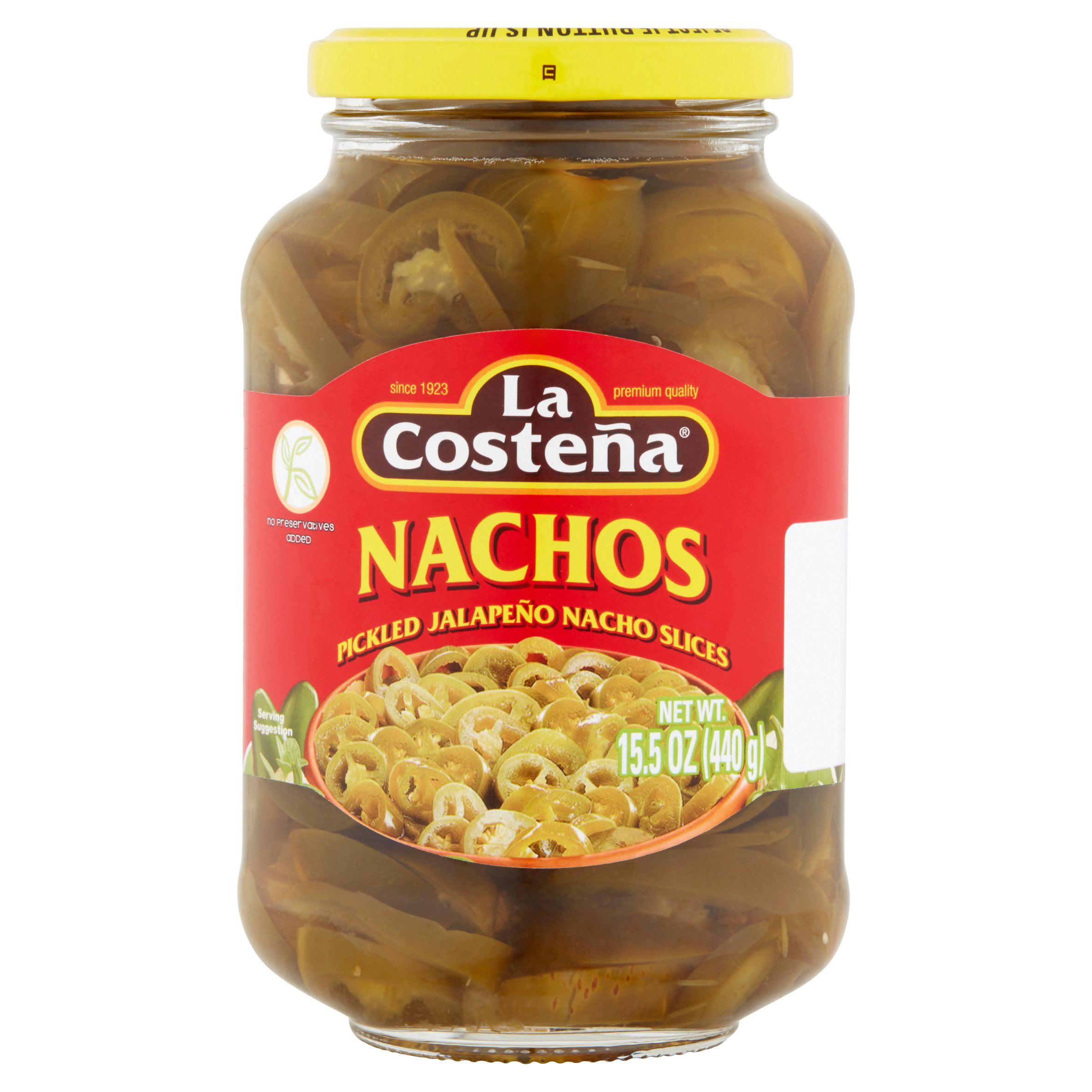 (6 Pack) La Costeña Pickled Jalapeño Nachos Slices, 15.5 oz