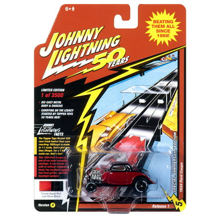 Johnny Lightning JLCG018 Classic Gold VER A 1934 Ford Coupe Candy Apple