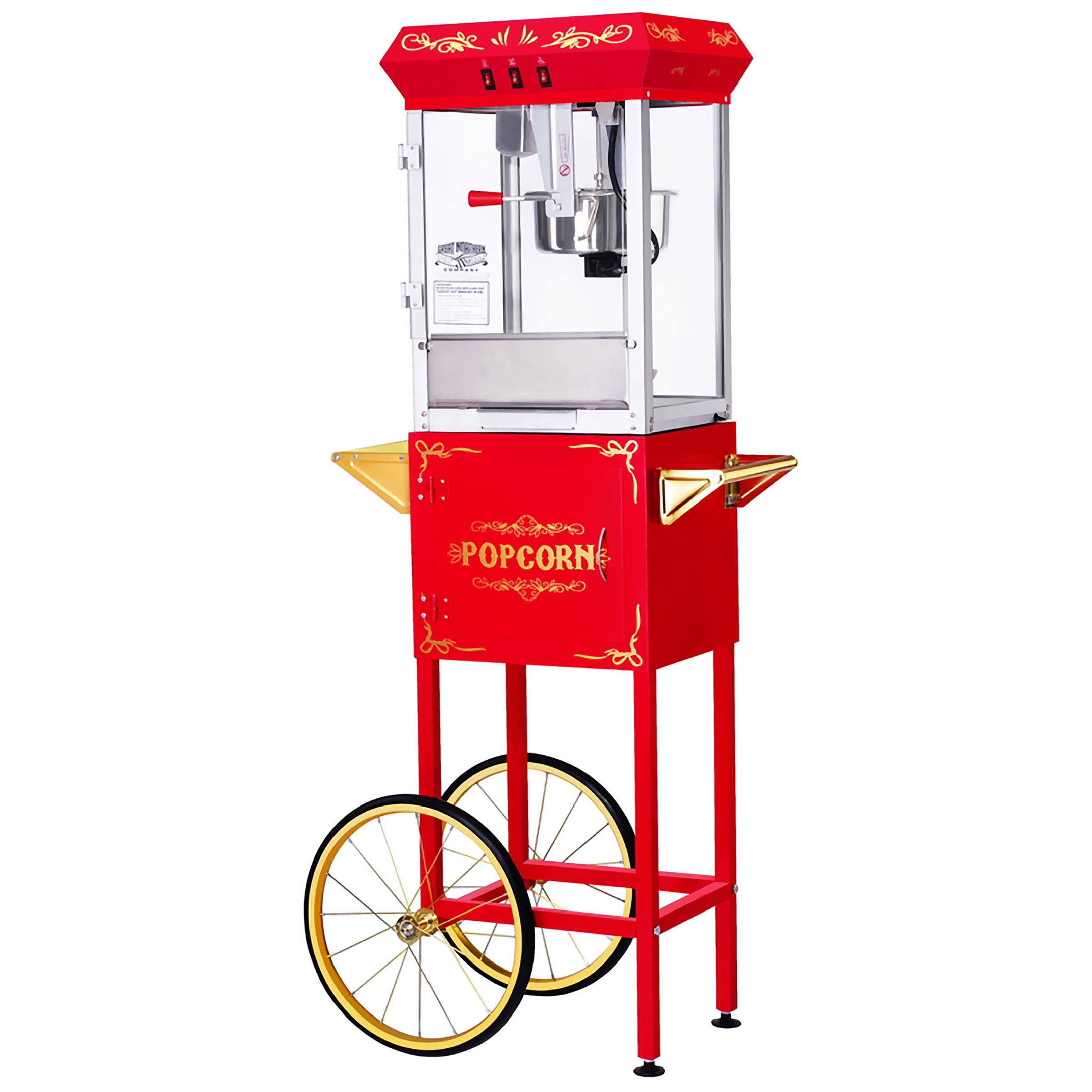 All-Star Popcorn Popper Machine & Cart, 8oz by Great Northern Popcorn by Trademark Global LLC