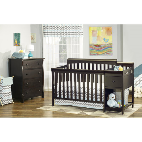 Sorelle Florence 4-in-1 Crib & Changer Combo Espresso