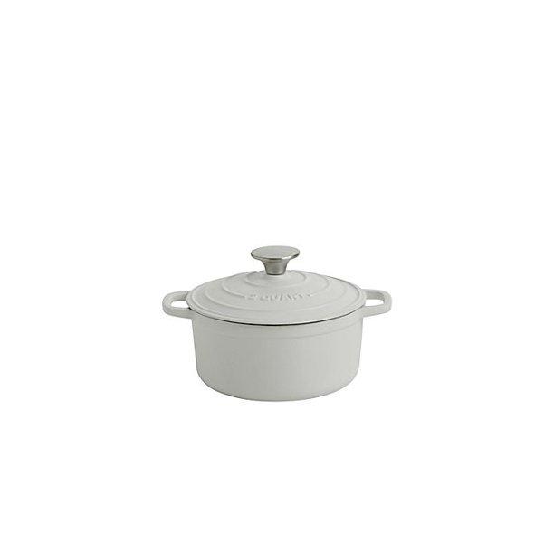 Artisanal Kitchen Supply 2 Qt Enameled Cast Iron Dutch Oven In Matte White Walmart Com Walmart Com