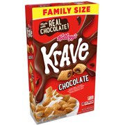 Kellogg's Krave Breakfast Cereal, Chocolate, Family Size, 17.3 Oz