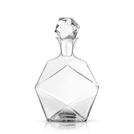 Raye: Faceted Crystal Liquor Decanter - Crystal Liquor Set
