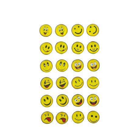 Solid Smiley Face Earrings (Lux Accessories Yellow Emoji Smiley Face Novelty Multi Earring Pack 12Pc)