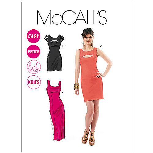 McCall's Pattern Misses' and Miss Petite Dresses in 2 Lengths, DD (12, 14, 16, 18)