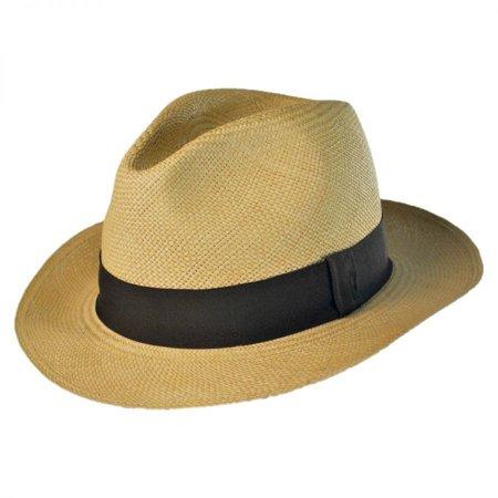 Jaxon Hats - Panama Straw Fedora Hat - M - Beige - Walmart.com b89dcc7a370