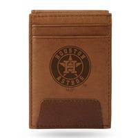Houston Astros Sparo Leather Front Pocket Wallet - No Size