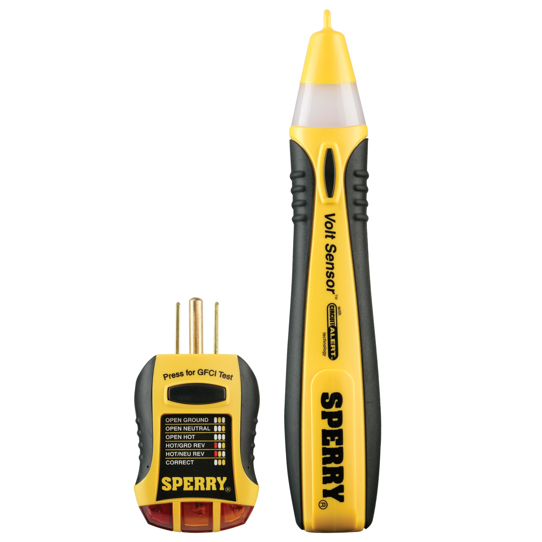 Sperry Instruments STK-001 2-Piece Tester Kit, includes a Non-Contact Voltage Tester and GFCI Outlet Tester