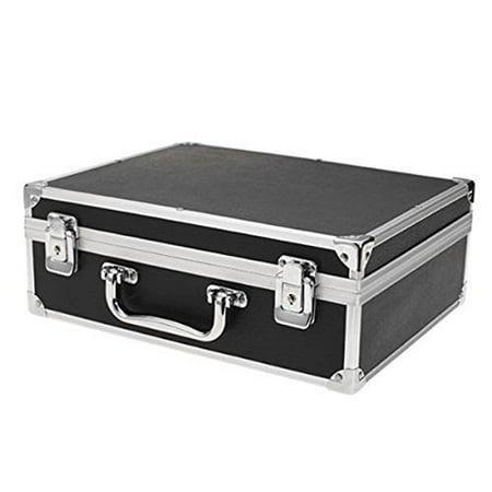 Dermasoft Black Large Tattoo Kit Case with Lock with Free Machine ()