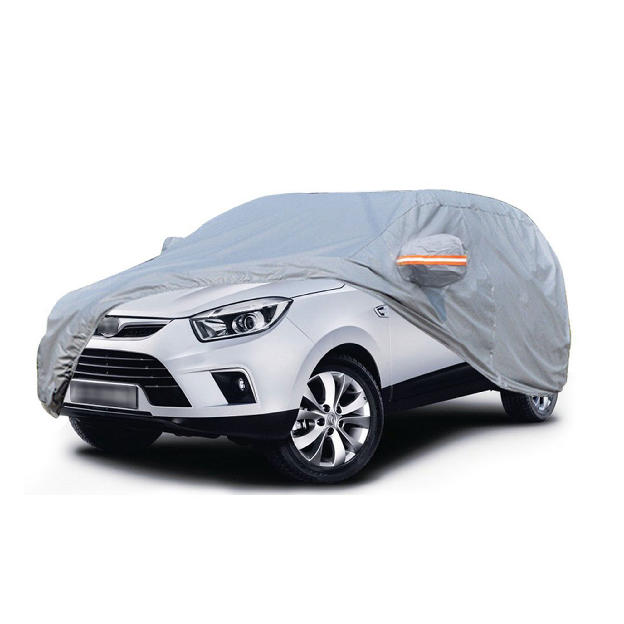"Waterproof Breathable Outdoor Indoor SUV Car Cover Storm-Proof,UV,Snow Proof Water Resistant(Fits up to 177"",Gray)"