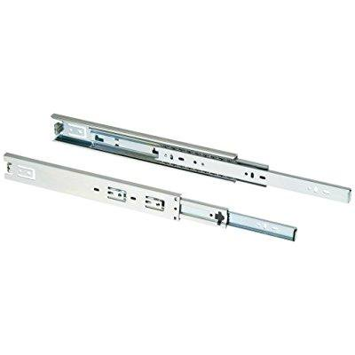 Shop Fox D3028 12-Inch Full Ext Drawer Slide 100-Pound Capacity Side Mount, Pair