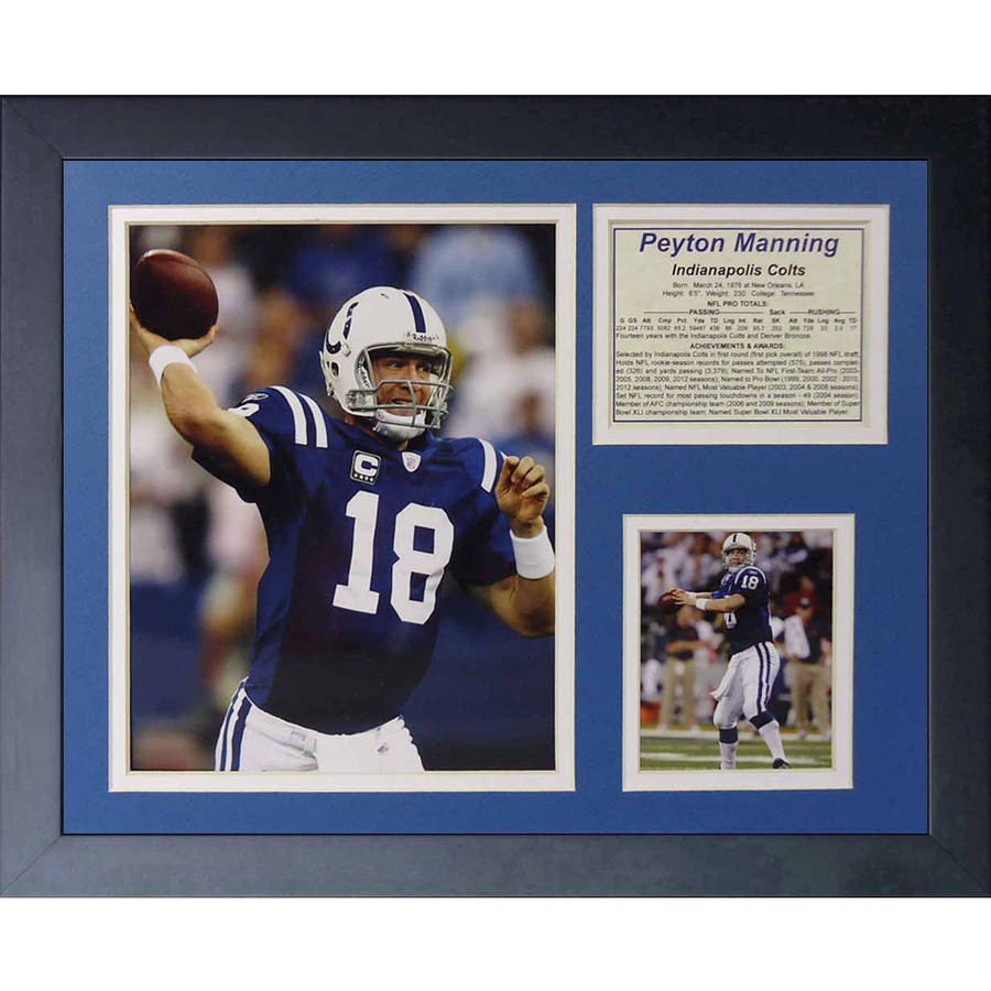 """Legends Never Die """"Peyton Manning Indianapolis Colts Home"""" Framed Photo Collage, 11"""" x 14"""""""