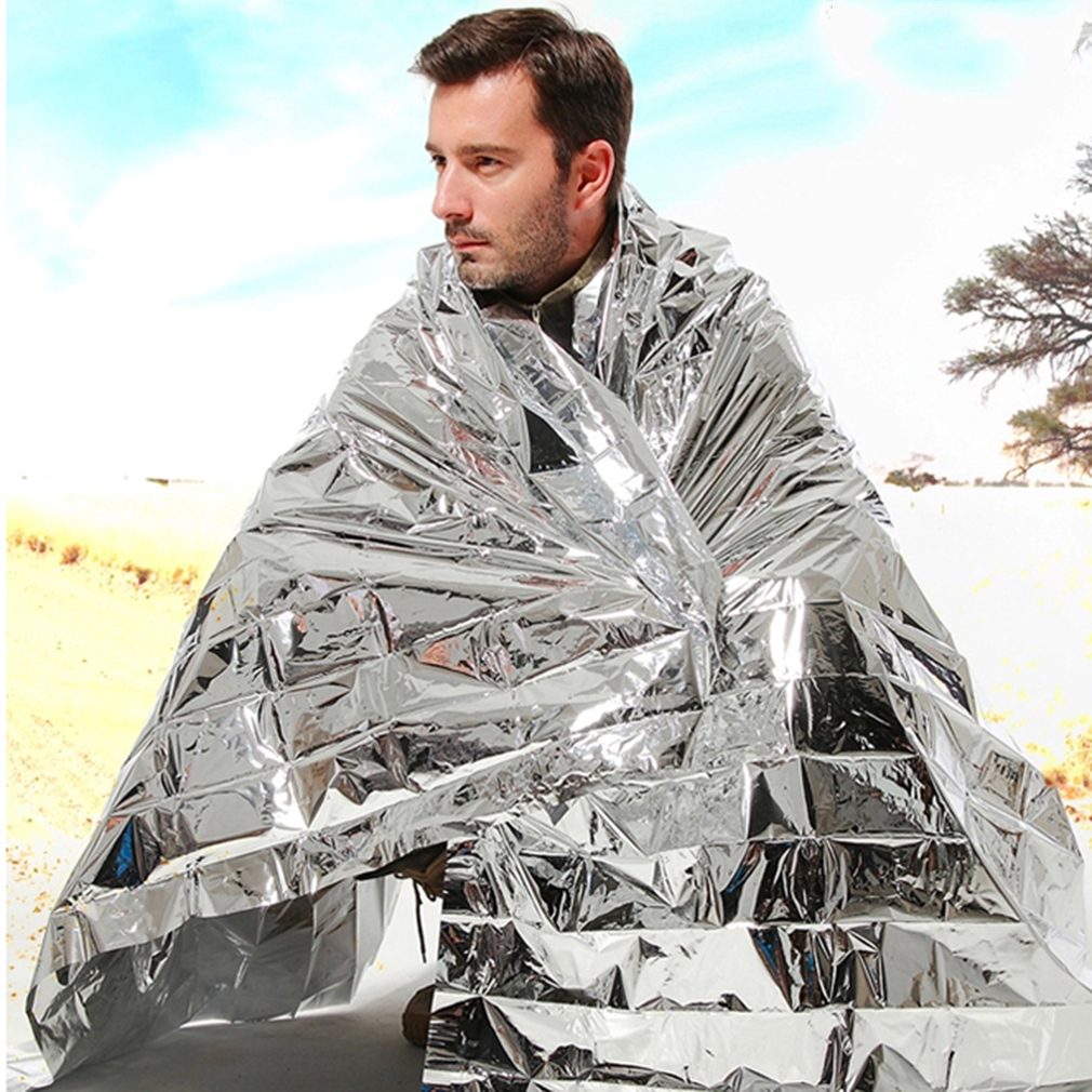 Cold-proof Military First Aid Emergency Blanket Survival Rescue Curtain Outdoor Life-saving Tent Reusable Sleeping Bag... by
