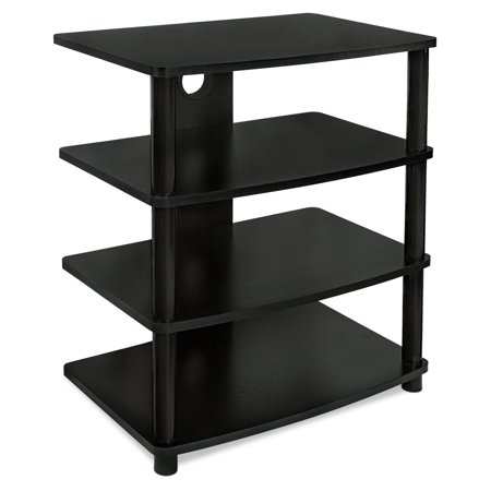 Mount-It! Media Stand Furniture for Home Entertainment Centers, 4 Wood Shelves