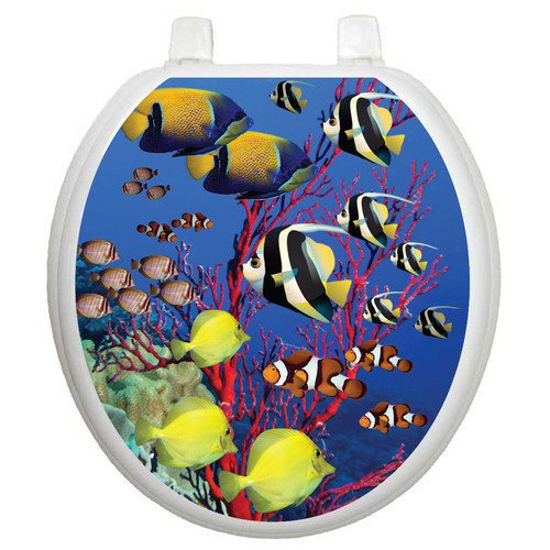 Toilet Tattoos Themes Coral Reef Toilet Seat Decal