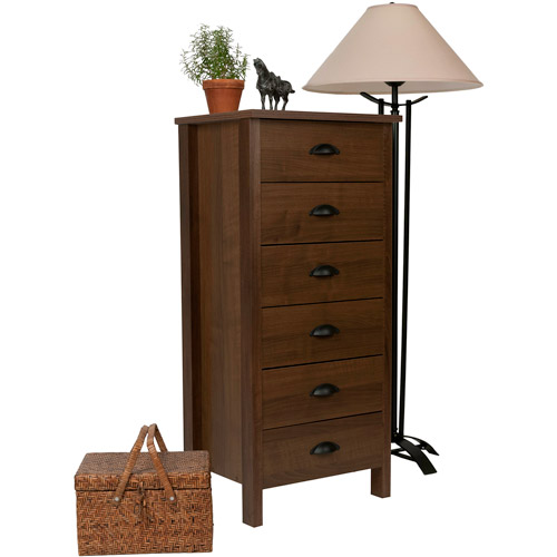 Nouvelle 6-Drawer Lingerie Bureau, Walnut