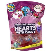 Kids Valentines Day Cards for Classroom Party Favors Friendship Exchange Candy Filled Hearts, 22 Count (Pikmi Pop)