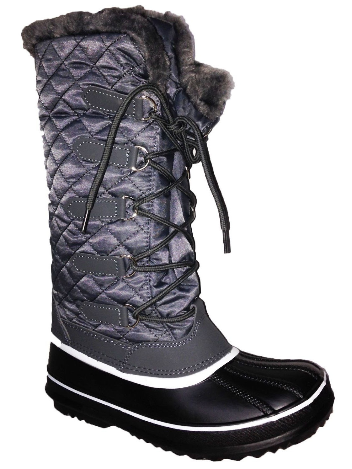 Anna Almeida Frozen02 Women Winter Cold Weather Snowboots Lace up Zipper