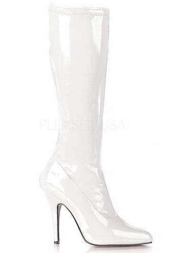 SED2000/W Pleaser Boots Single Soles Knee High Boots Pleaser WHITE Size: 15 54f7aa