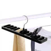 WALFRONT 10 Slot Tie Belt Scarf Rack Organizer Sturdy Plastic Closet Wardrobe Space Saver, Tie Belt Rack, 10 Slot Tie Belt