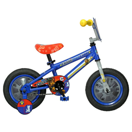 Nickelodeon Paw Patrol Chase Kids Bike, 12 inch wheel, training wheel, ages 2 - 4, blue, boys, girls ()