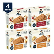 Quaker Baked Flats, Banana Honey Nut & Cranberry Almond, 5-3 Bar Packs (Pack of 4)