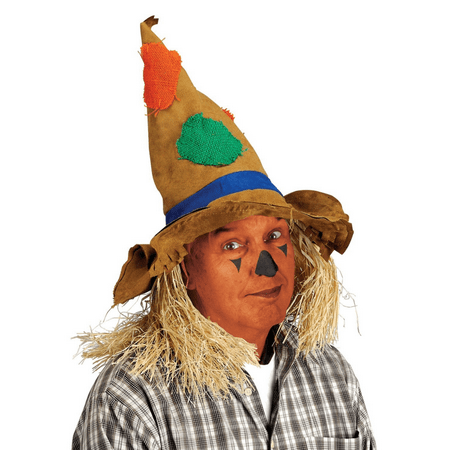 Adult Scarecrow Hat Wizard Of Oz Costume Straw Hair Tattered Pointed Cosplay - Dog Wizard Of Oz Costumes