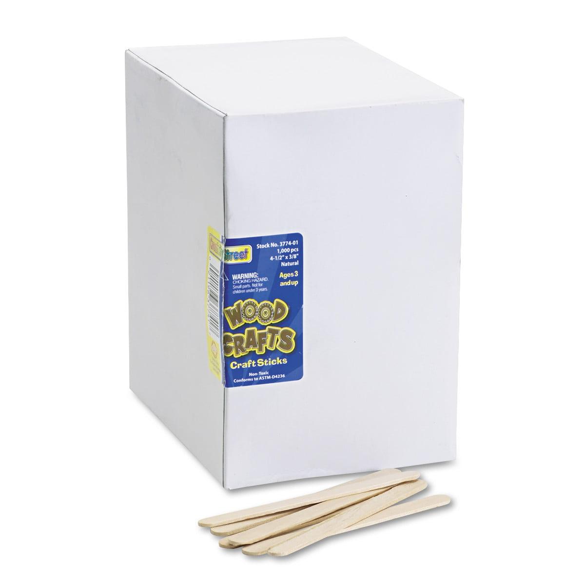Chenille Kraft Natural Wood Craft Sticks, 4 1/2 x 3/8, Wood, Natural, 1000/Box