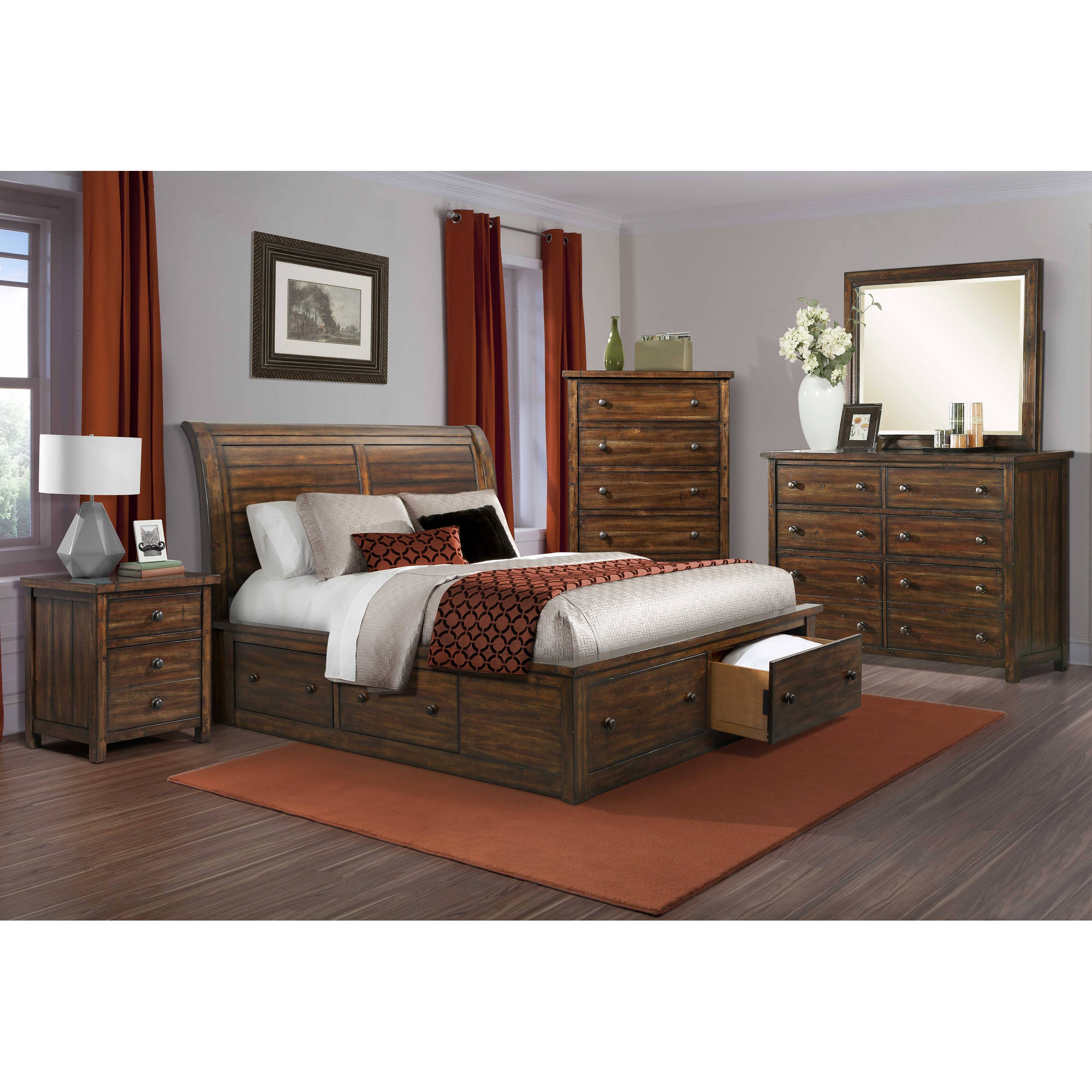 Picket House Furnishings Danner Queen Storage 5PC Bedroom Set by