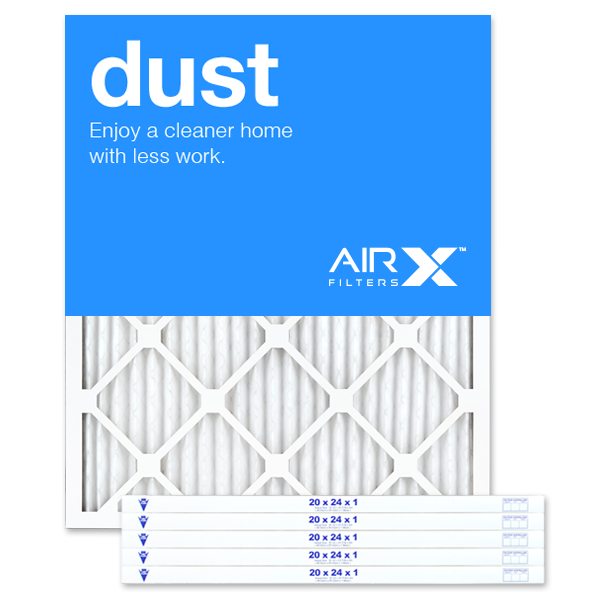 AIRx Filters Dust 20x24x1 Air Filter MERV 8 AC Furnace Pleated Air Filter Replacement Box of 6, Made in the USA