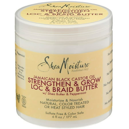 Shea Moisture Jamaican Black Castor Oil Strengthen & Grow Loc & Braid Butter 6 oz (Loc Butter Hair Moisturizer)