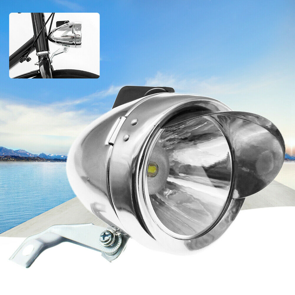 Classic 200LM LED Vintage Bike Headlight Bicycle Retro Head Light Front Fog LCL7