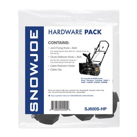 Snow Joe SJ600 Series Snow Throwers Hardware (Snow Hardware)
