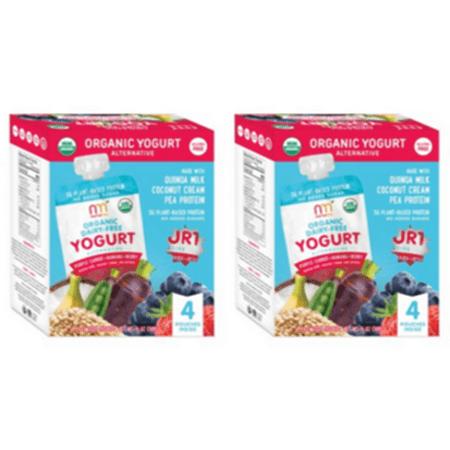 (2 Pack) Nurturme Organic Dairy Free Yogurt, Purple Carrot + Banana + Berry, 4 Pouch Pack (Free Yogurt)