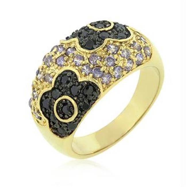 Purple and Black Rose Ring, <b>Size :</b> 06