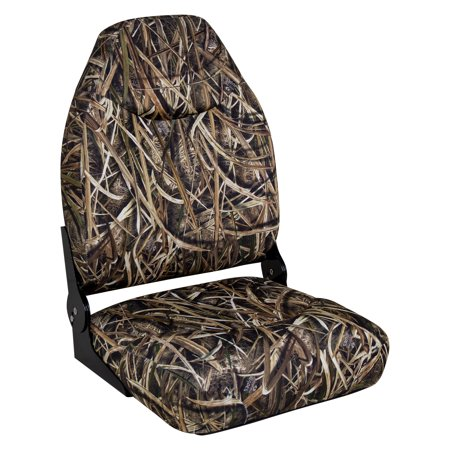 Wise 8WD726PLS-728 Camo Mid Back Boat Seat, Mossy Oak Shadowgrass Blades