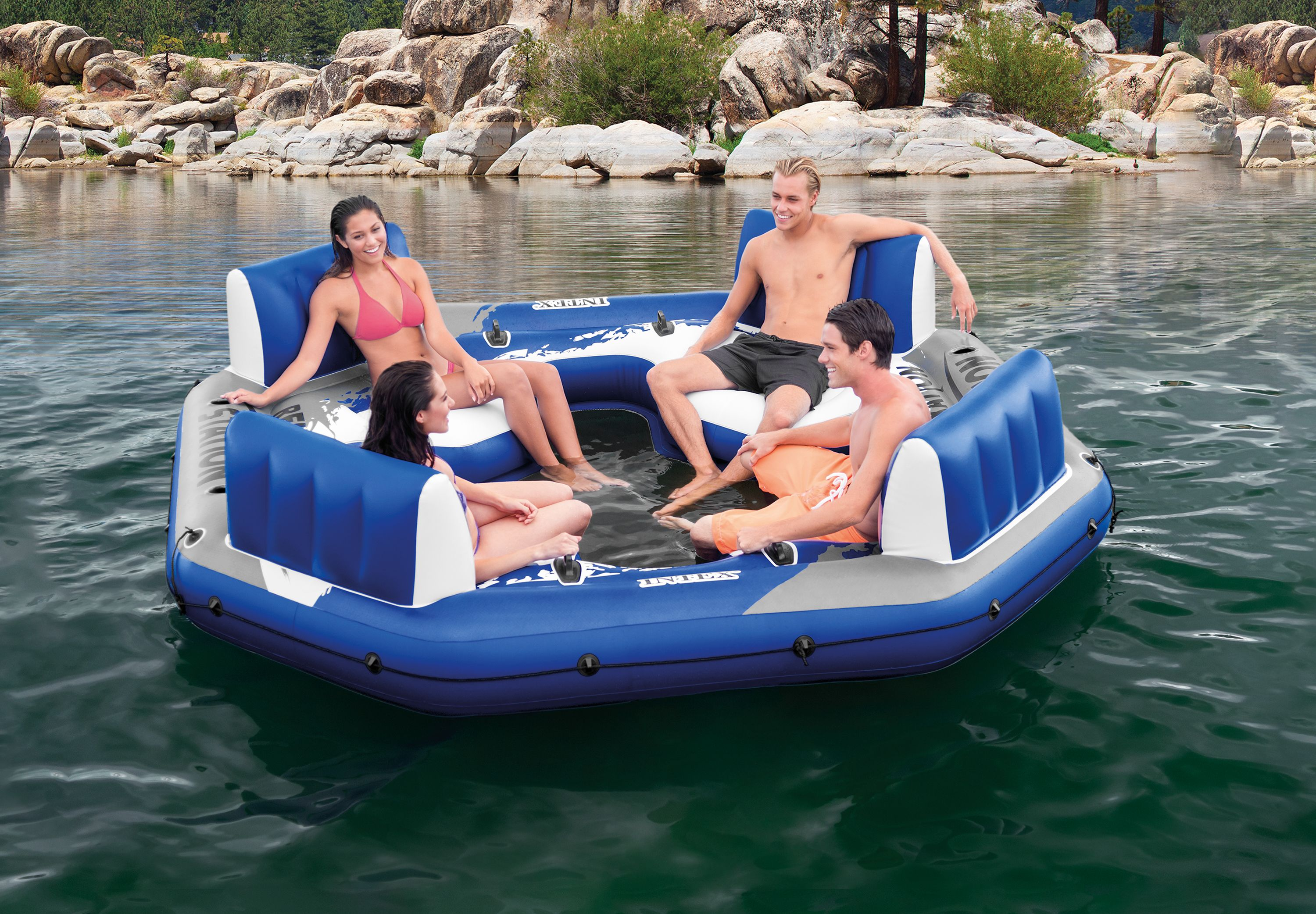 "Intex Inflatable Relaxation Station Island Floating Lounge, 120"" x 120"" x 26"" by Intex"
